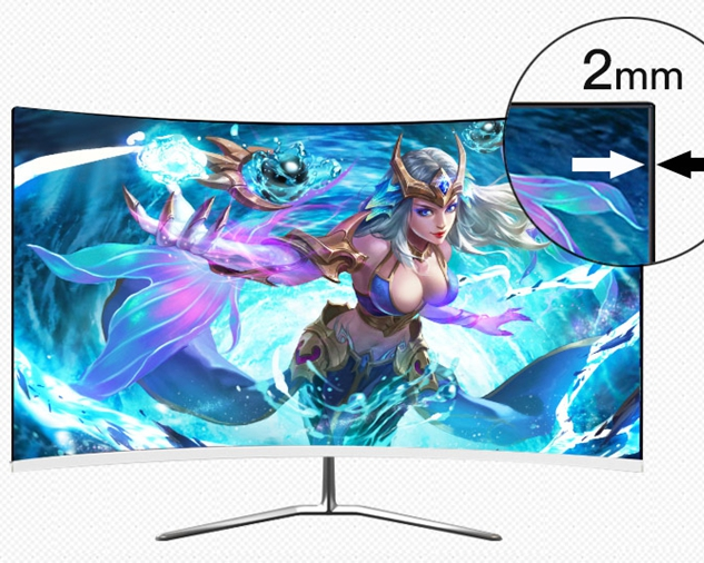 curve screen  full hd monitor 21.5 inch hdmi for computer use
