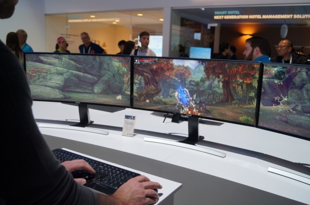 The future of PC monitors: It's all about the curve